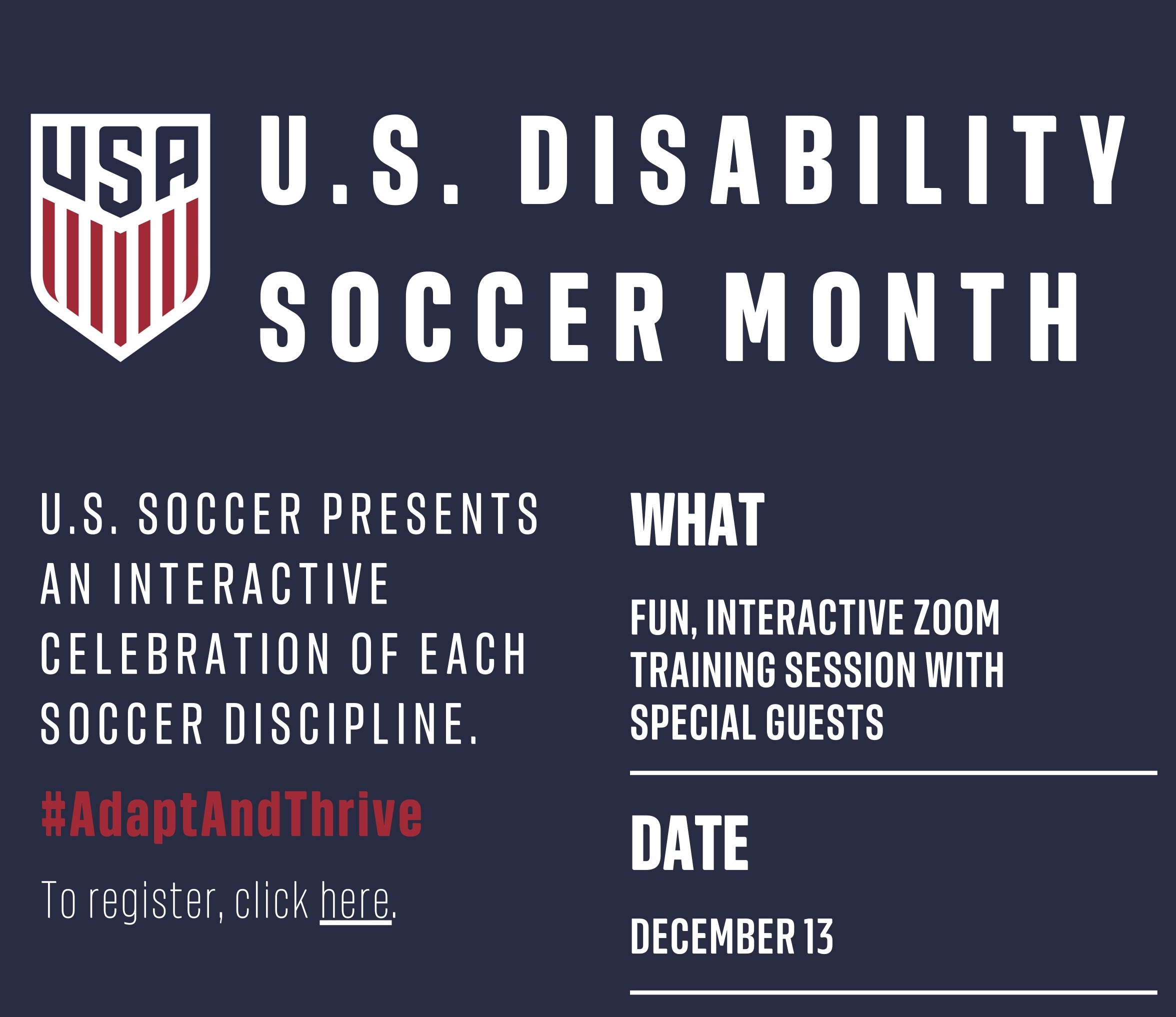 Introducing The Women In Soccer Summit and US Disability Soccer Month