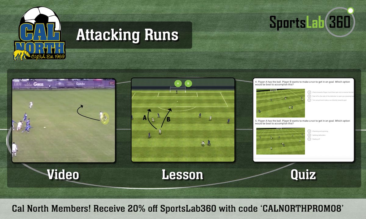 Attacking Runs Player Development Tactical Theme of the Month - August